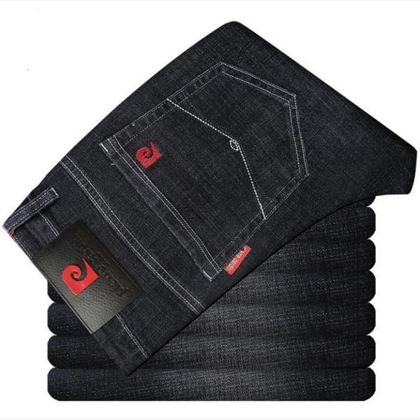Jeans de designer pour hommes pantalons simples nouveaux grands noms des affaires occasionnels bleu noir extensible hip hop rue pantalon large de haute qualité de la mode