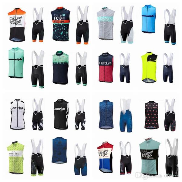 Morvelo ciclismo camisola sem mangas (babador) shorts conjuntos de nova bicicleta quente ciclismo mtb desgaste pessoal resistente ao desgaste respirável J5817