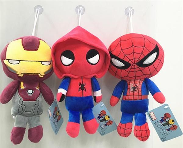 Marvel Film Superheld Heimkehr Plüsch Puppe Spielzeug für Kinder Geschenke Cartoon Spiderman Iron Man Plüschtiere K436