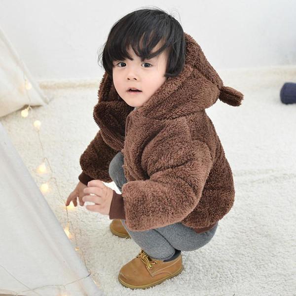 Hooded Infant Winter Jacket Newborn Winter Baby Coat Warm Girls Baby Fur Coat Kids Winter Outwear 6-24 Months