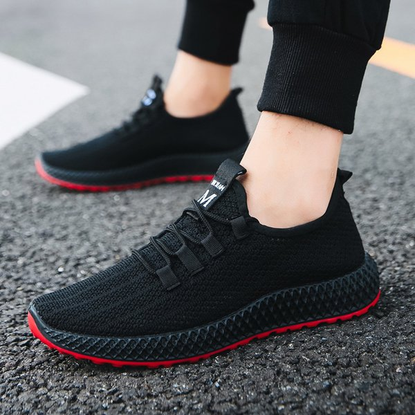 Fall 2019 New Flying Mesh Air-permeable Men's Sports Shoes Quickly Sell Cross-border Leisure Men's Shoes through Foreign Trade