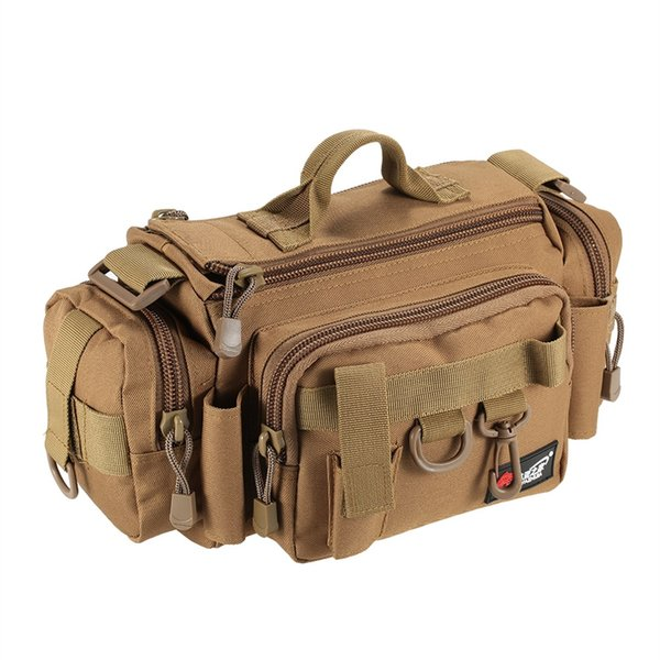 Multifunctional Fishing Bag Fishing Reel Lure Tackle Bag Waist Pouch Case Tackle Pack Outdoor Shoulder Storage #28556