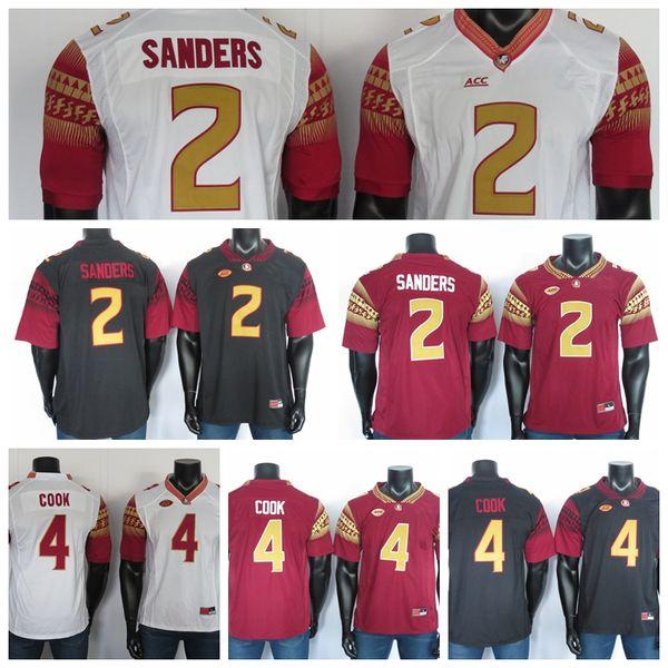 FSU College Football Jersey 2019 NCAA Florida State Seminoles Jerseys Deion Sanders Dalvin Cook Black Red White costurado 150 ANOS