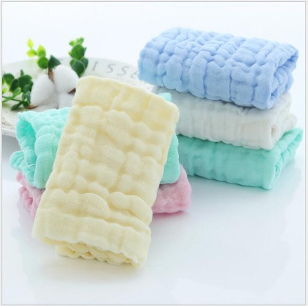 Baby Saliva Towels Six-Layer Baby Cotton Gauze Towel Kids Washing Face Towel Handkerchief Infant Feeding Napkins Gifts Free Shipping