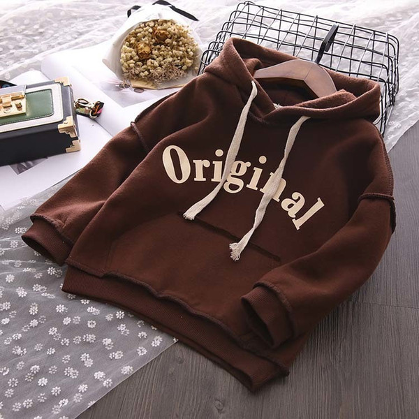 wholesale 2019 New Autumn Item Girl And baby Boy Casual Print Hooded Top Two Colors girls jacket kids denim boys coat SPIDERMAN jackets