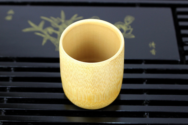Handmade Natural Bamboo Tea Cup Japanese Style Beer Milk Cups Green Eco-friendly Travel Crafts Teaware WB7