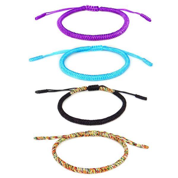 Manual Weave Buddhism Peter Jackson's King Festoons Color Colourful Line Lucky Red Rope Bracelet Nation Wind Weave Originality Bracelet