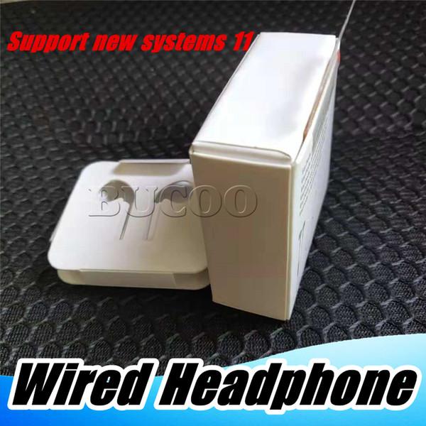 7-Generation 8Plus Earphones Foxconn Genuine Original Chip Auriculares con cable en los auriculares con control remoto de micrófono para 7plus 8 plus X XR