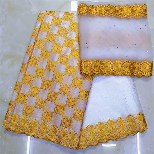 top popular african fabric basin riche getzner bazin brode getzner dentelle tissu nigerian lace material high quality 7yard lotYKB-1 2021