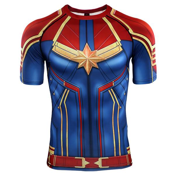 3D печатные футболки мужчины капитан сжатия рубашки реглан рукав 2019 с коротким рукавом комиксы косплей костюм ткань печати топы мужской