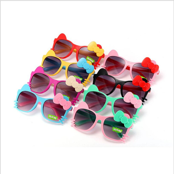 Children Girls Boys Sunglasses Kids Beach Supplies UV Protective Eyewear Baby Fashion cute bow cat Sunshades Glasses