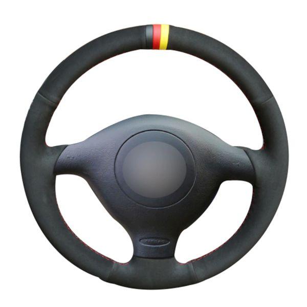 Black Suede Car Steering Wheel Cover for Volkswagen VW Golf 4 Passat B5 1996-2003 Polo 1999-2002 Seat Leon 1999-2004