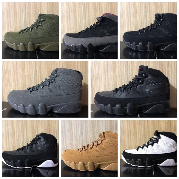 Nike Air Jordan Original AJ AJ9 Haute Qualité 9 Dream It Do It UNC Bred Space Jam Basketball Chaussures Hommes 9s Black Snakeskin The Spirit Anthracite Sneakers