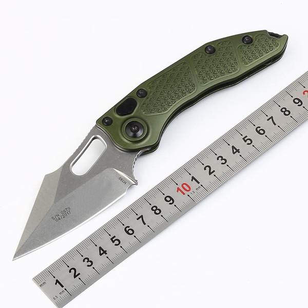 Promoción Stitch-A Auto Cuchillo plegable táctico D2 Piedra Hoja de lavado Verde T6061 Mango Cuchillos de bolsillo EDC para exterior EDC