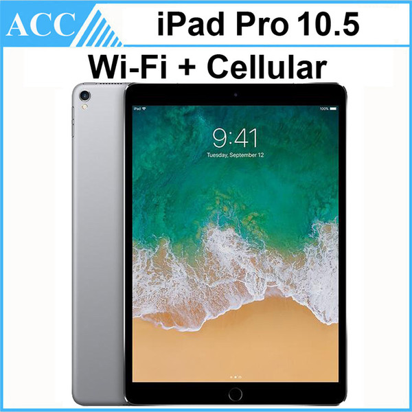 top popular Refurbished Original Apple iPad Pro 10.5 inch WIFI + Cellular IOS A10X Chipset 4GB RAM 64GB 256GB 512GB ROM Tablet PC DHL 1pcs 2020