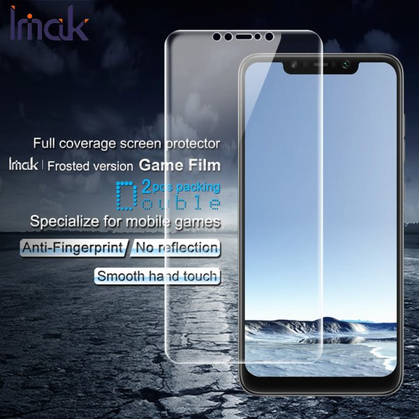 2PCS IMAK for Poco F1Film Frosted Hydrogel Game Film Anti-scratch Screen Protector Film for Xiaomi Pocophone F1 /Poco F1(India)
