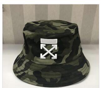 Moda Tasarımcıları camo Mektup Kova Şapka Mens Womens Için Katlanabilir Siyah Balıkçı şapkalar Caps Plaj Güneşlik Satış Katla ...
