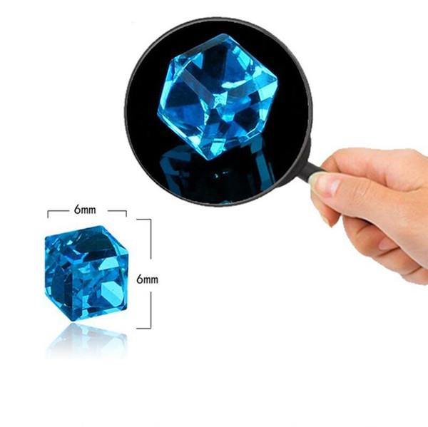 Neue Zirkon Cube Magnetic Stud Abnehmen Ohrringe Verlieren Gewicht Gesundheit Nicht Durchbohrte Ohrring Magneten Schmuck Männer Frauen 9 Farben geschenk