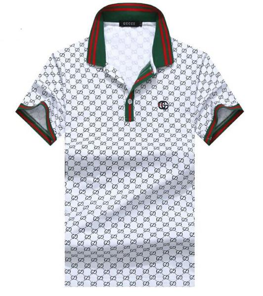 100% Hommes T-shirt Imprimer Slim Fit Broderie Polo T-shirts Homme Manches Courtes Respirant Hommes t-shirts Hommes Top T-shirts en gros