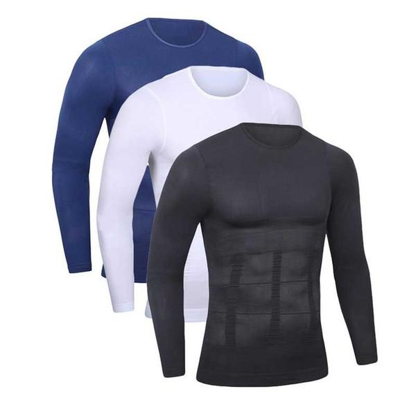 Men Shapers Ultra Sweat Thermal Muscle Shirt Neoprene Belly Slim Sheath Female Corset Abdomen Belt Shapewear Zip Tops Vest NY097