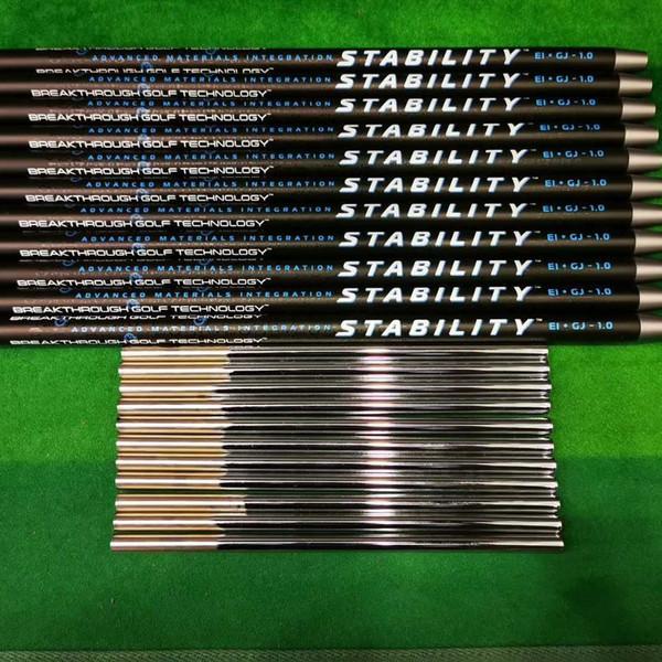 il pozzo di golf STABILITÀ 1.0 club di golf in acciaio al carbonio di golf putter albero combinato all'albero tecnologia nera il trasporto libero