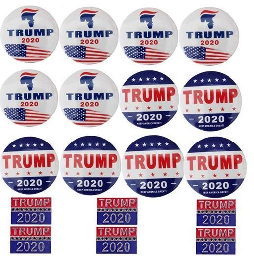 Donald Trump Boutons Épingles Garder L'Amérique Grande Broche Épingles Badge pour Vêtements Jeans Écharpe Chapeau Sac Ornements 2020 Election Présidentielle Campaig