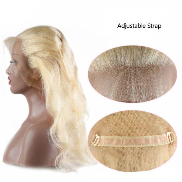 100% İşlenmemiş Virgin Remy İnsan Saç 360 Dantel Kapatma Bebek Saç Ile Brezilyalı 613 Bal Sarışın Vücut Dalga Virgin İnsan Saç 360 Kapatma