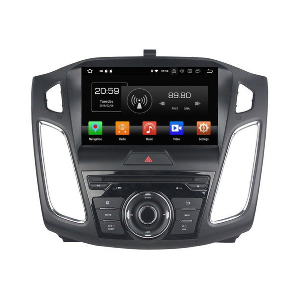 """1080P HD 4GB RAM 64GB ROM Octa Core 1 din 9"""" Android 8.0 Car DVD Player for Ford Focus 2012-2018 Radio GPS WIFI Bluetooth Mirror-link"""
