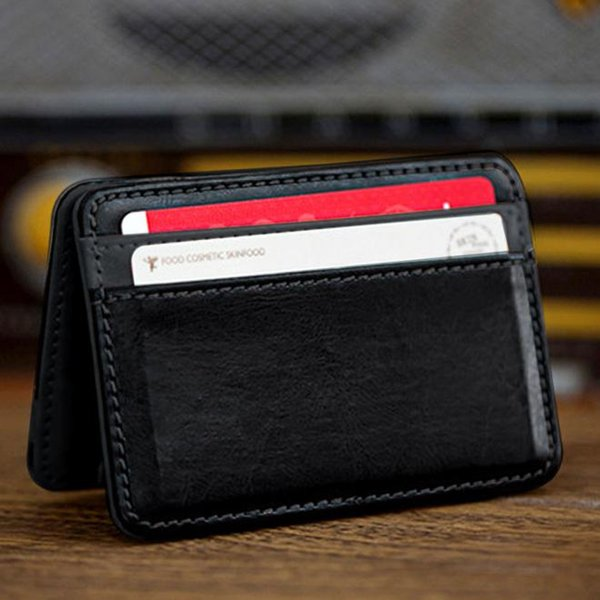 Mini Neutral Magic Bifold Billetera de cuero Titular de la tarjeta Monedero de la cartera Monederos para hombre de lujo Porte Monnaie Homme