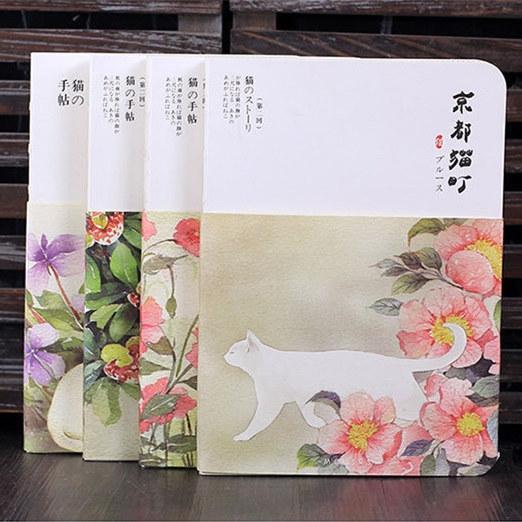 """kyoto Cat"" Cute Lined Blank Freenote Notebook Weekly Planner Notepad Journal Sketchbook Study Diary"