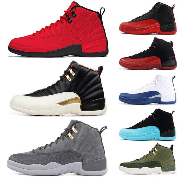 Il nuovo arrivo maschile e femminile di pallacanestro Shoes Sneakers 12S playoff XII Università taxi blu di ginnastica Rosso Bianco per i pattini di sport degli uomini di alta Cut
