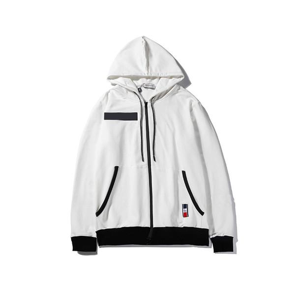 Tasarımcı Erkekler Ceket Marka Iki Beyaz Uzun Kollu Yuvarlak Boyun Moda Casual Erkek Kadın İlkbahar Sonbahar Coat Boyut M 2XL