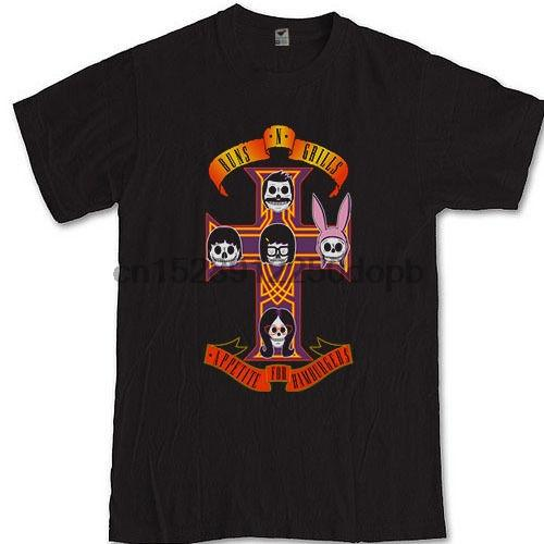 BobS Burger Tv Show Tee Silahlar N Izgaralar Animasyonlu Sitcom S M L Xl 2Xl 3Xl T Gömlek Komik Giyim Rahat Kısa Kollu Tişörtleri