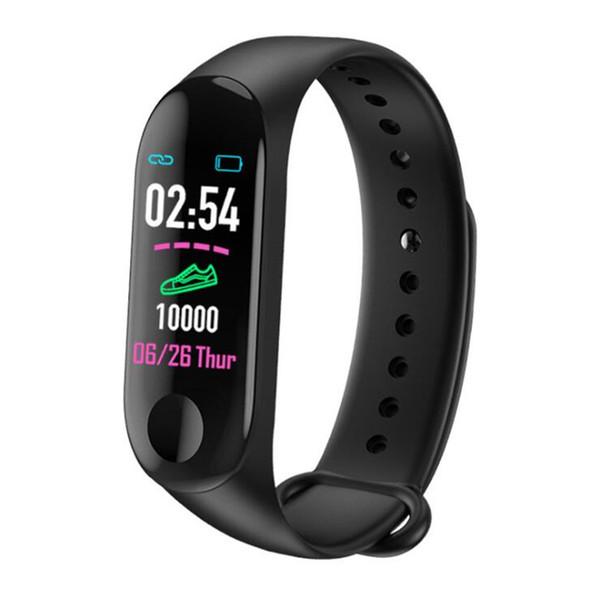 Freies Verschiffen neue Uhrarmband-Herzfrequenzüberwachungsinformationsstoß Bluetooth-Anrufanzeige-Sportuhr des Farbschirms M3 0.96 intelligente