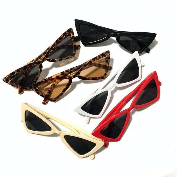 90х европейских и американских ретро треугольник вибрато Leopard печати Солнцезащитные очки