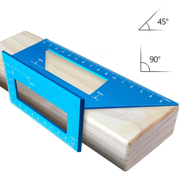 best selling Woodworking T-type line gauge multi-function square 45 degree angle 90 degree aluminum alloy thickening