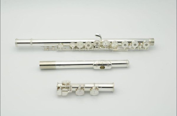 New Arrivals Silver Plated C Tune 16 Open Holes Flute with E Key~French Button Engraving Decorative Pattern
