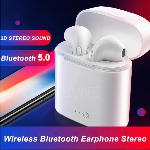 Brand New i7s TWS 5.0 Wireless Bluetooth Earphone Stereo Earbud Headset With Charging Box For All Bluetooth tablet Smart phone earphone