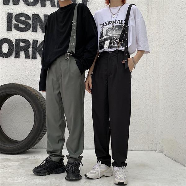 Printemps nouveau pantalon de rue de style ulzzang Harajuku beau pantalon tendance rétro détachable