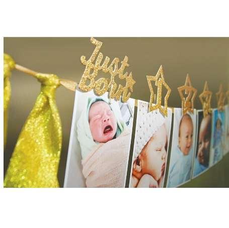 1st Birthday Photo Frame 1-12 Months Baby's Photo Frame Shower Baby Photo Holder Kids Birthday Banner Wedding Room Decorations