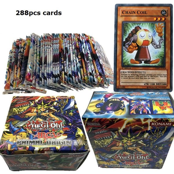 Yugioh Cards with Color Box English Version All Rare 288 Pcs The Strongest Damage Board Game Collection Cards Toy