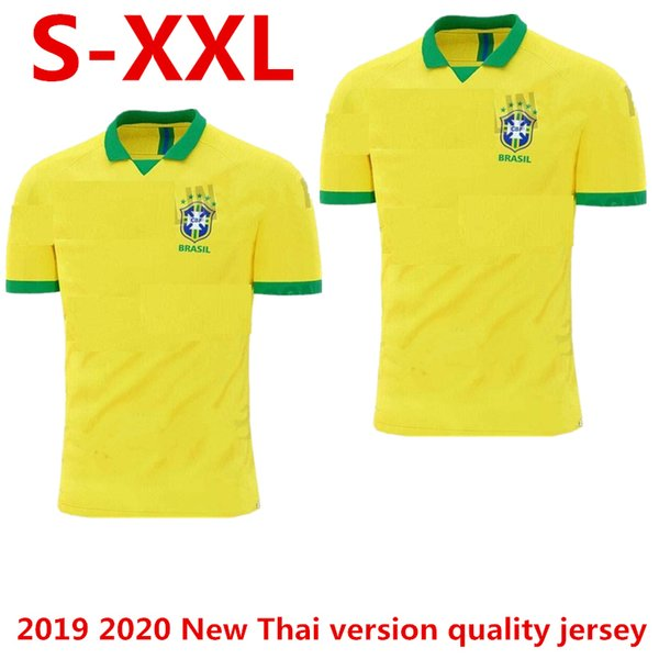 2019 2020 Nouveaux maillots de la Coupe du monde de football brésiliens de football des hommes du Brésil 19 19 JESUS COUTINHO FIRMINO MARCELO maillots de football