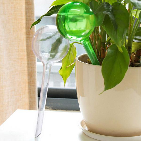 Sıcak Satış Pratik PVC Seyahat Ev Bitki Öz Sulama Ampul Şekli Waterer Küre Otomatik Sulama Veranda Çim Bahçe Saksı Ekici Kutular