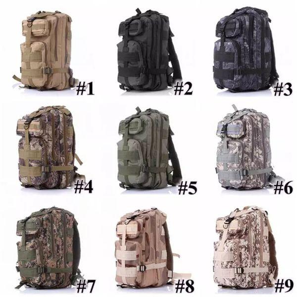 best selling 12 Colors 30L Hiking Camping Bag Military Tactical Trekking Rucksack Backpack Camouflage Rucksacks Attack Backpacks T0035