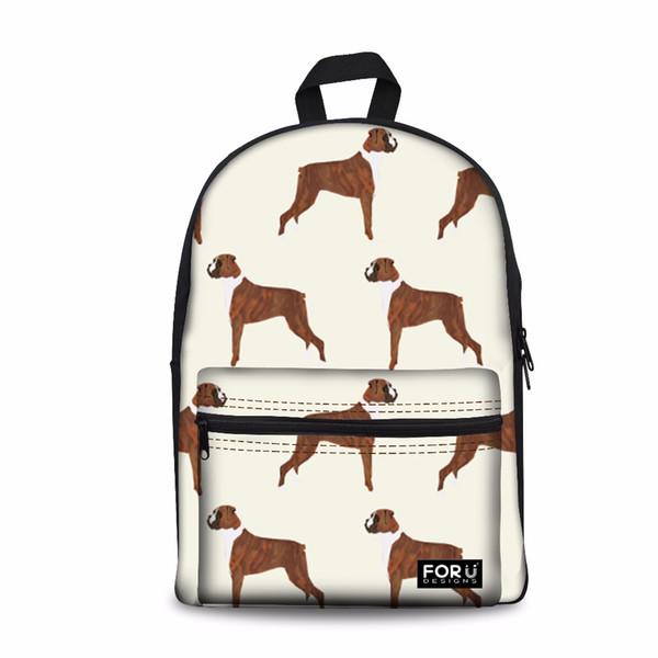 Customized Cute Boxer Dog 3D Printing Backpacks for Women Casual Shoulder Bags Daypack Teen Girls Boys School Bagpack Rucksack