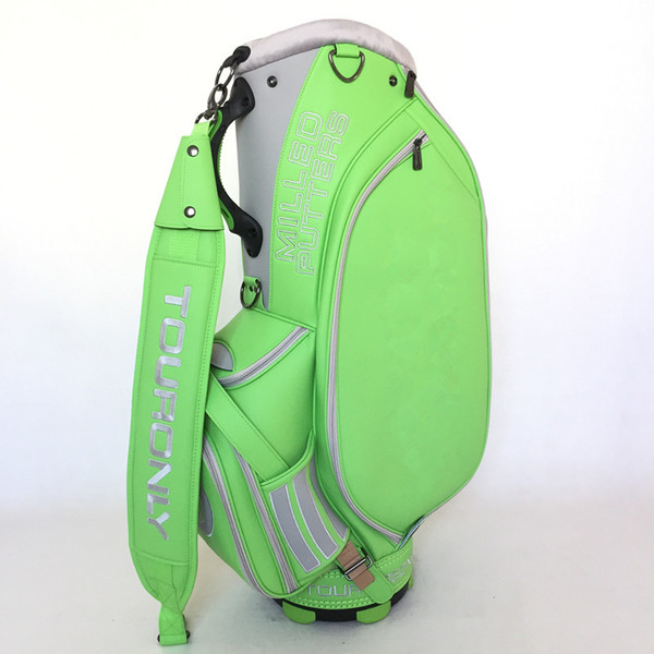 best selling 2019 New Premium Quality Custom Lime Green   Orange Golf Tour Staff Bag Cart Bag Free Shipping