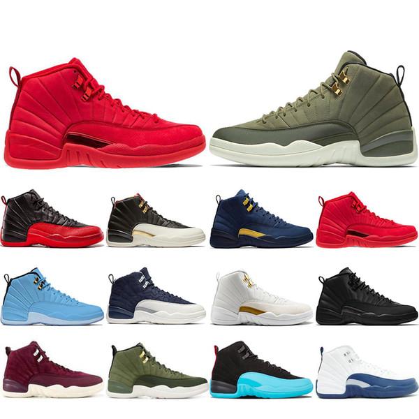 Frete Grátis 12 12 s Sapatos de Basquete Para O Homem CNY Michigan Wntr Ginásio Vermelho NYC Sapatos De Lã XII Designer de Sapato Esportes Dos Homens Formadores Tênis