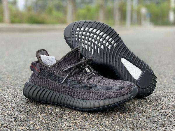Adidas  Высокое Качество Тройной Черный Мужская Дизайнерская Спортивная Обувь Удивительный Черный Красный Kanye West Мода Женщина Спортивные Кроссовки Come With Box