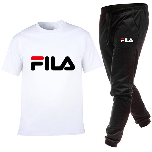 Manicotto da uomo di marca fashion designer maniche corte e pantaloni lunghi di alta qualità per il tempo libero abbigliamento sportivo gratuito posta S-3XL NO.4S