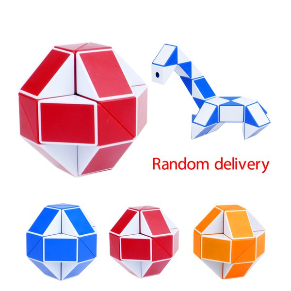 Mini Magic Cube New Hot Snake Shape Toy Game 3D Cube Puzzle Twist Puzzle Toy Gift Random Intelligence Toys Supertop Gifts